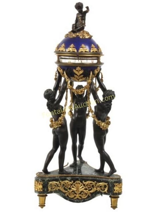 French Annular Clock Three Graces Sold At Fontaines AuctionPrice Realized: $12,100.00