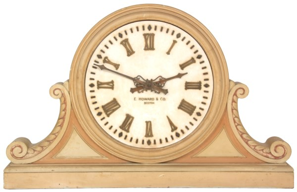 24 in. E. Howard Marble Dial Gallery Clock
